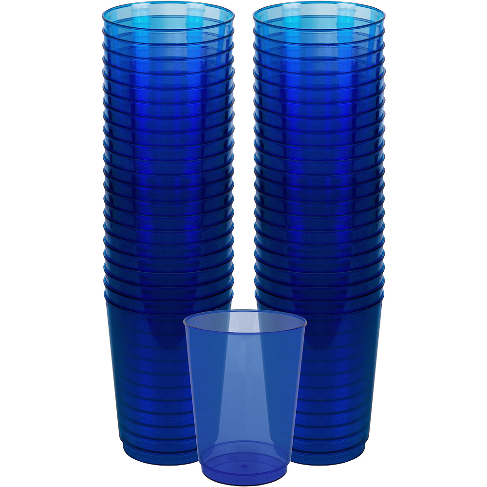 Big Party Pack Royal Blue Plastic Cups 72ct Image #1