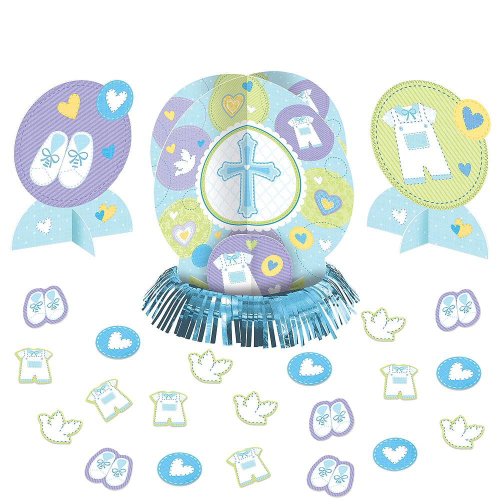 Blue Sweet Religious Table Decorating Kit 23pc Image #1