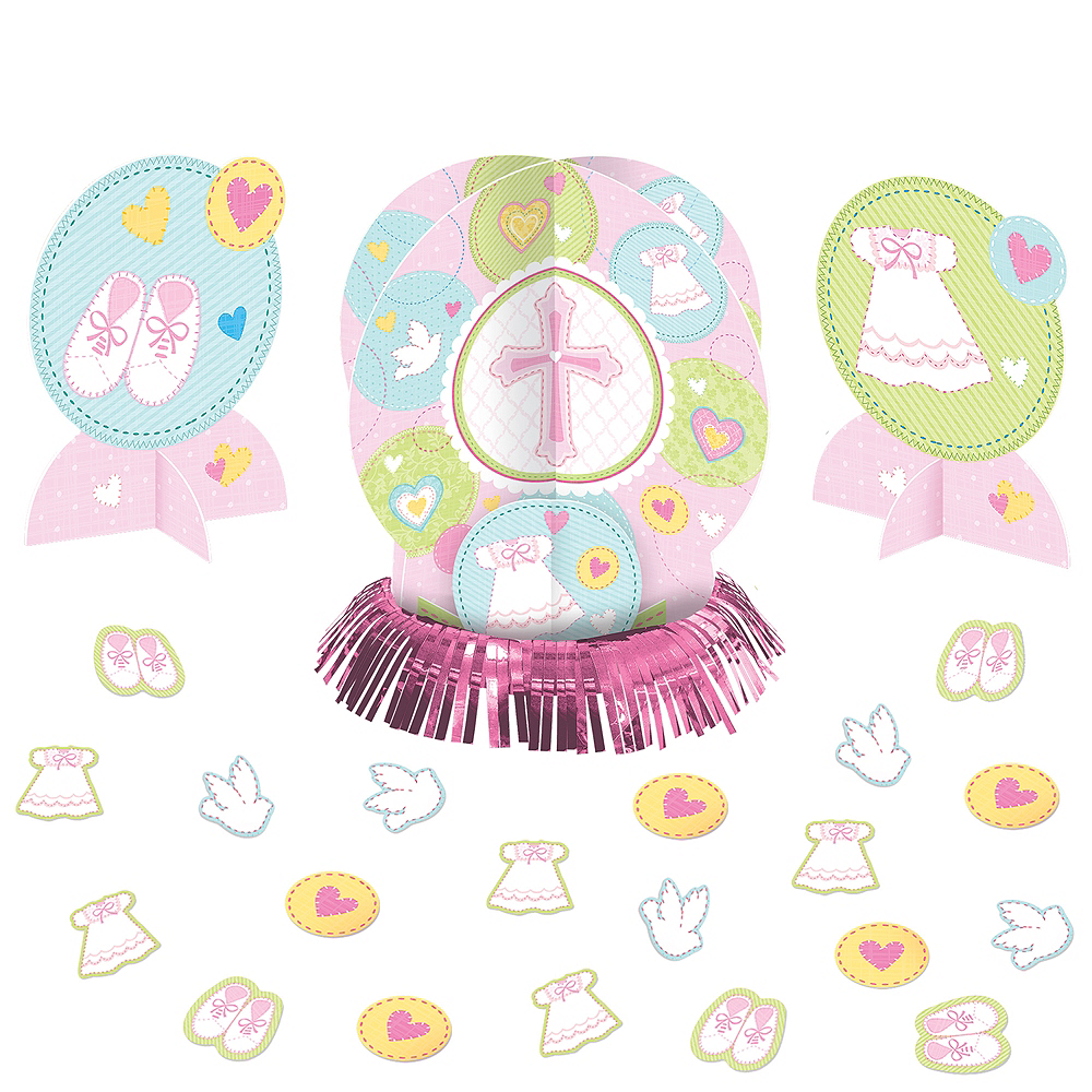 Pink Sweet Religious Table Decorating Kit 23pc Image #1