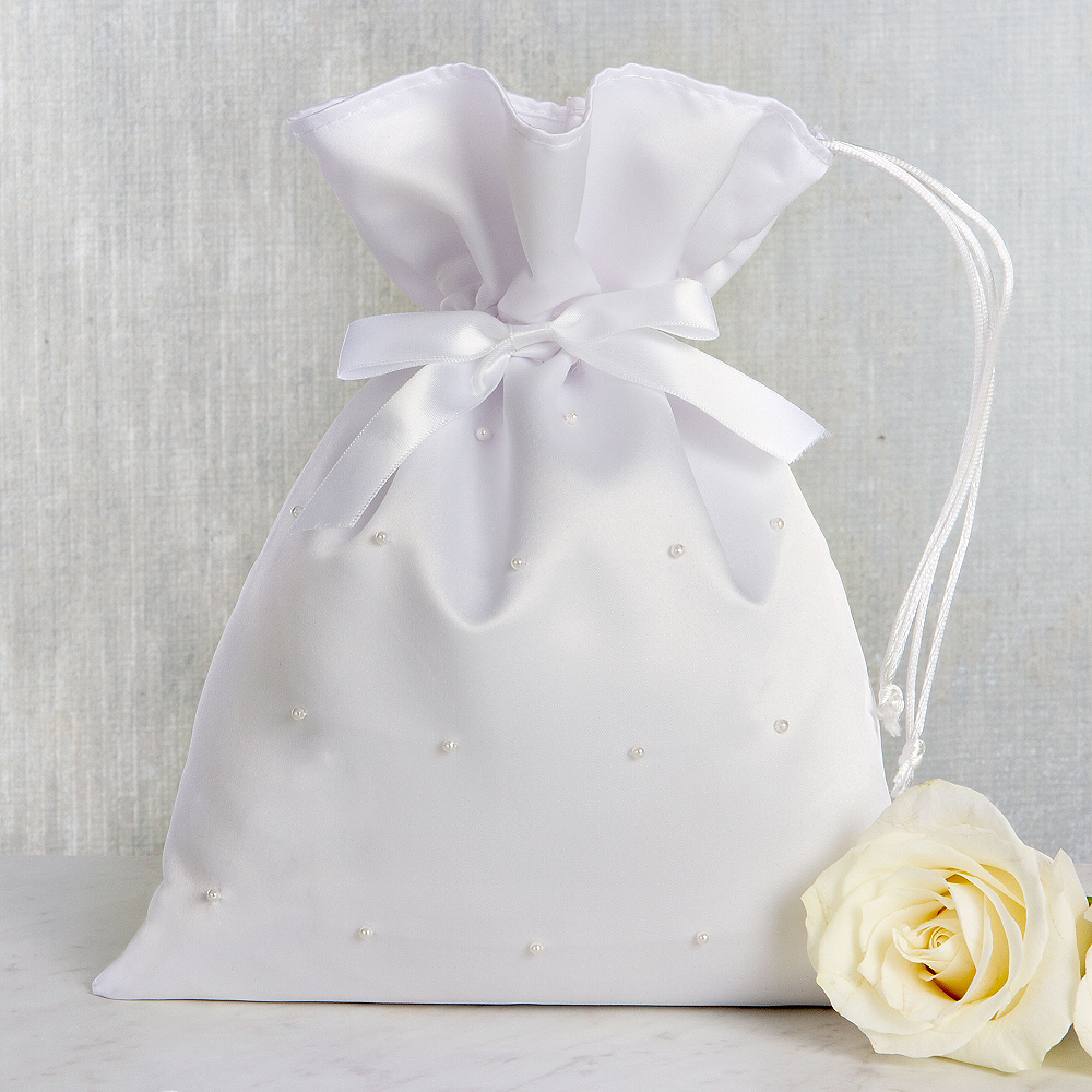 White Pearl Wedding Money Bag Image #1