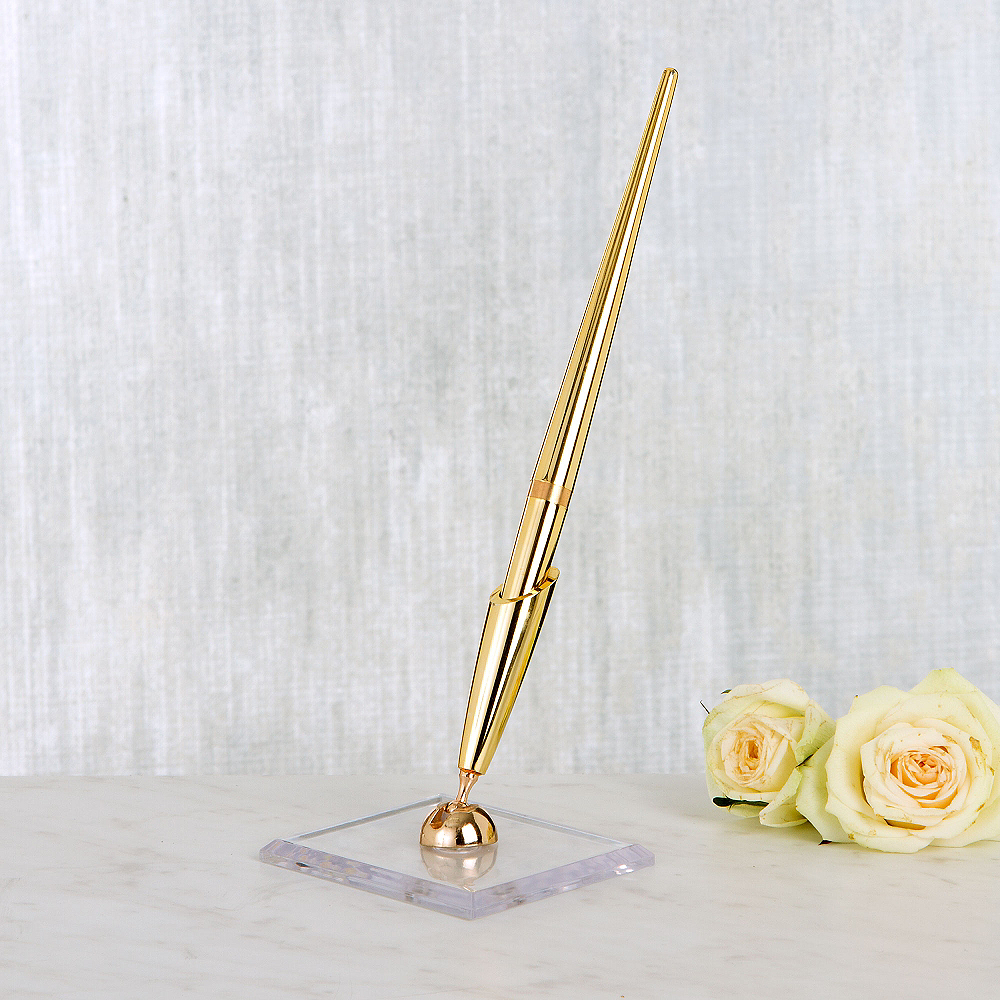 Gold Pen Stand Set 2pc Image #1