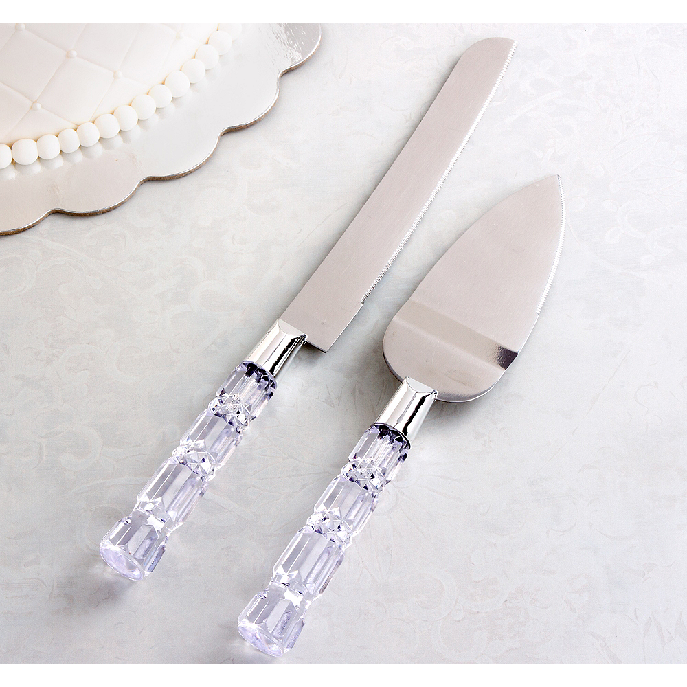 Wedding Cake Cutter | Crystal Wedding Cake Knife Server Set Party City Canada