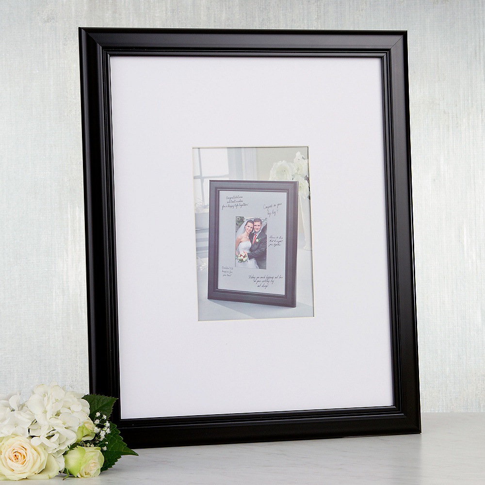 Wedding Autograph Photo Frame 12in X 14 34in Party City Canada