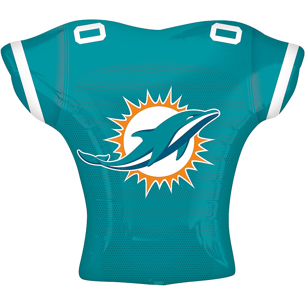Nav Item for Miami Dolphins Balloon - Jersey Image #2
