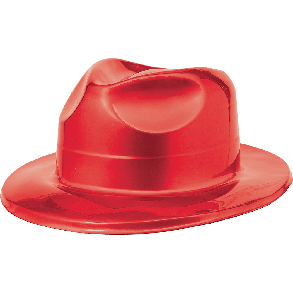 Nav Item for Red Plastic Fedora Image #1