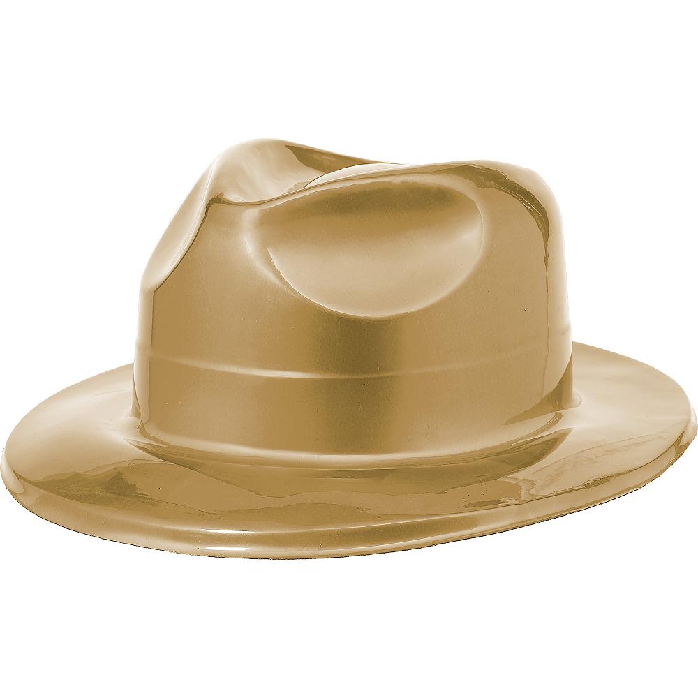 Gold Plastic Fedora Image #1