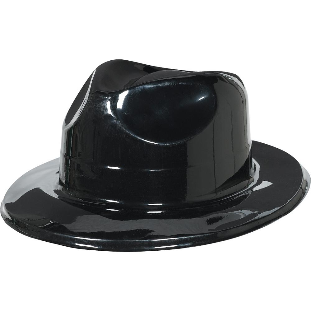 Black Plastic Fedora Image #1