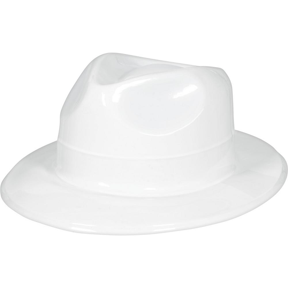White Plastic Fedora Image #1