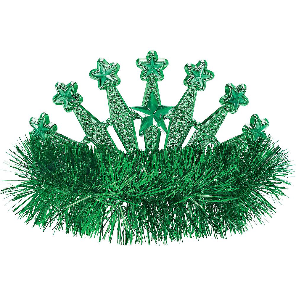 Green Star Tinsel Tiara Image #1