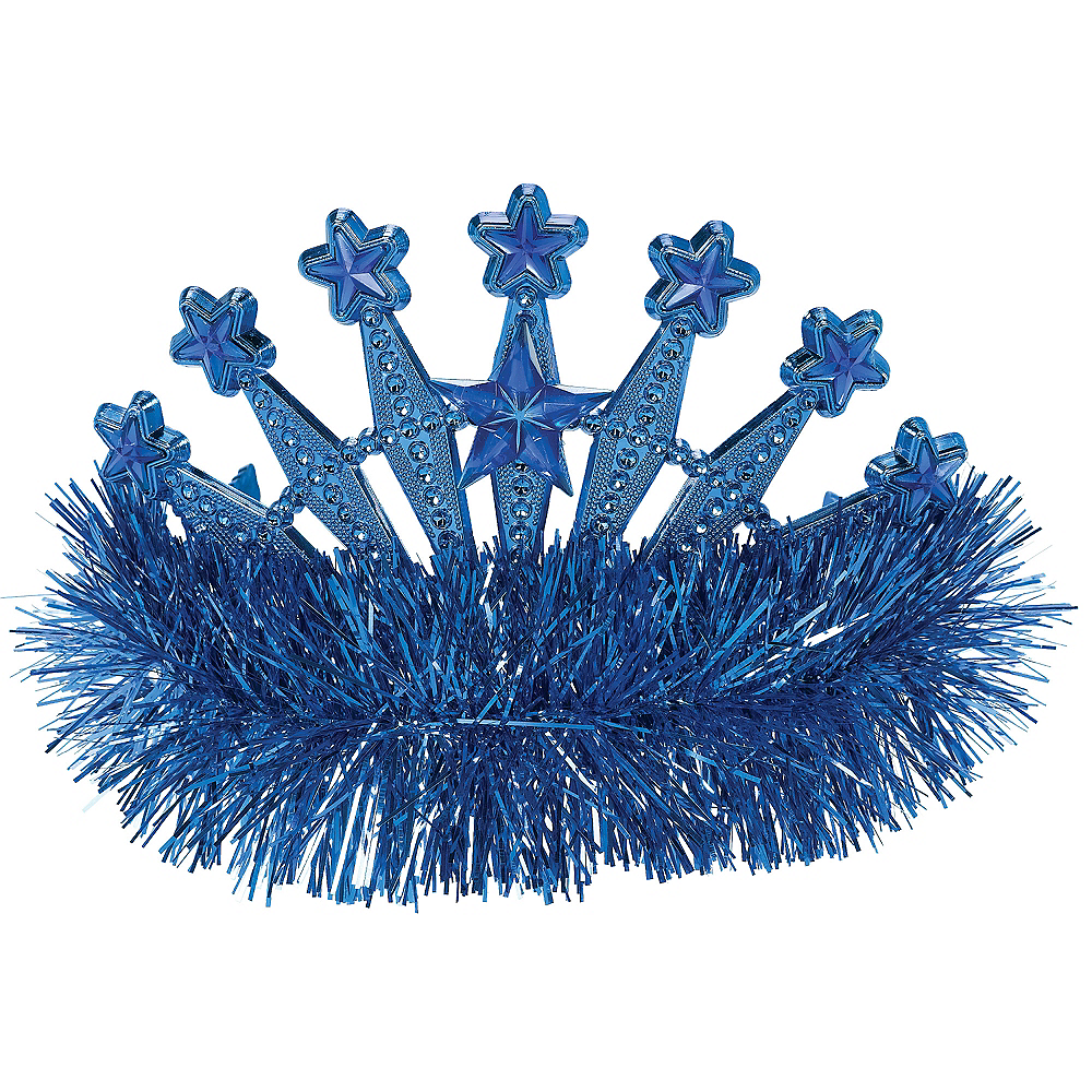 Nav Item for Blue Star Tinsel Tiara Image #1