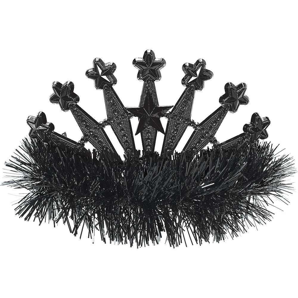 Black Star Tinsel Tiara Image #1