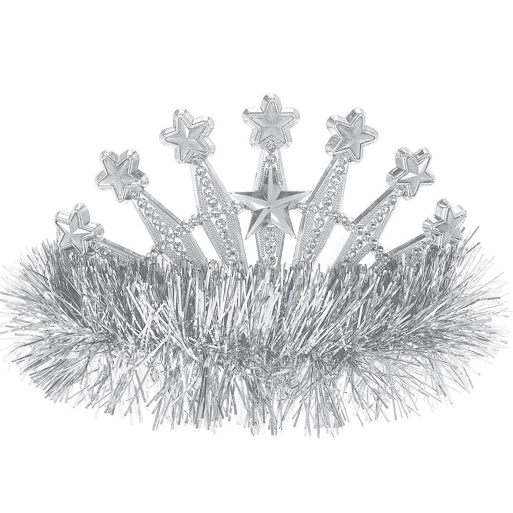 Silver Star Tinsel Tiara Image #1