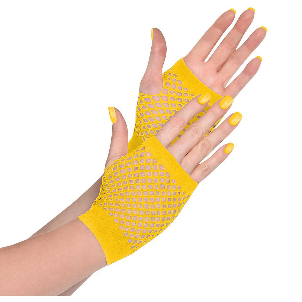 Yellow Fishnet Glovelettes Image #1