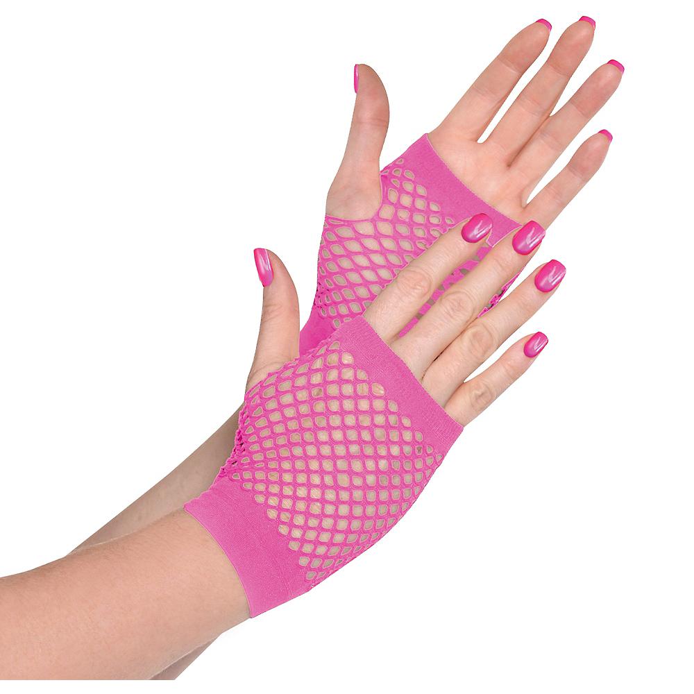 Pink Fishnet Glovelettes Image #1