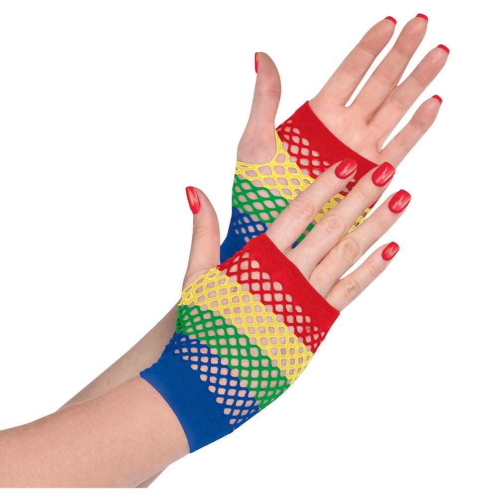 Rainbow Fishnet Glovelettes Image #1
