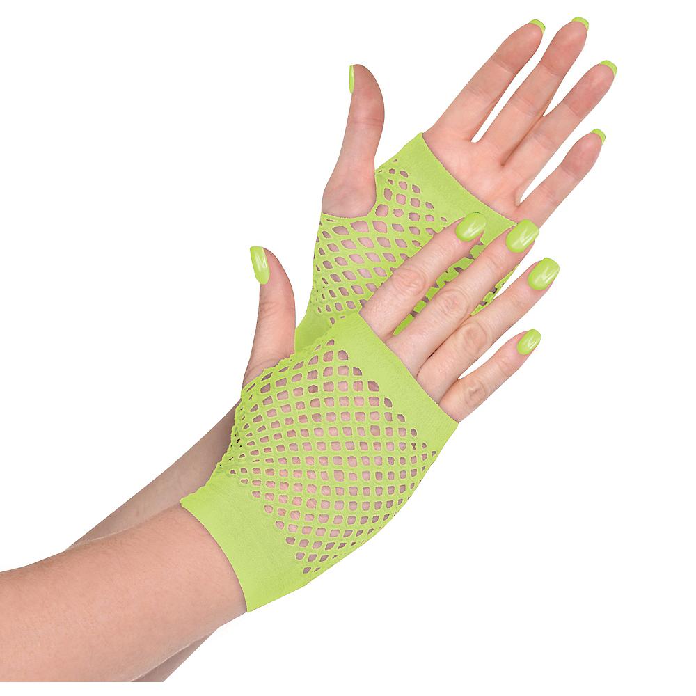 Neon Green Fishnet Glovelettes Image #1