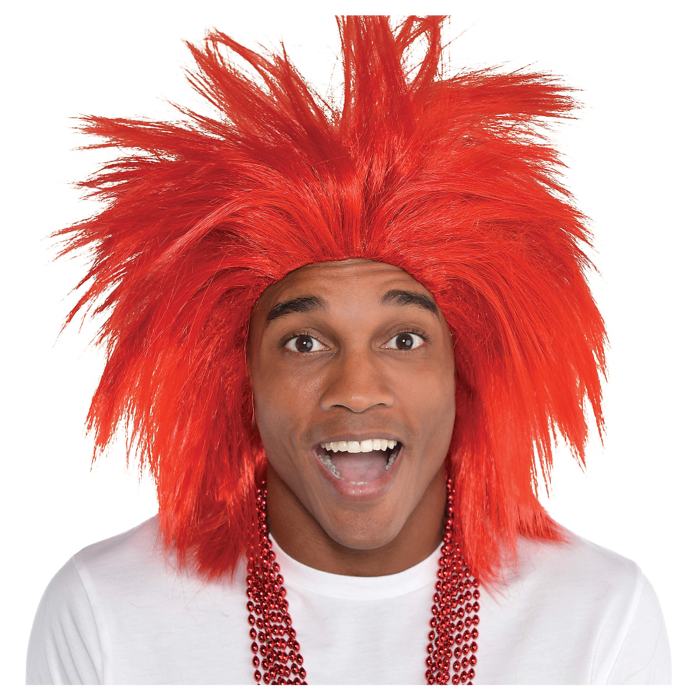 Red Crazy Wig Image #1