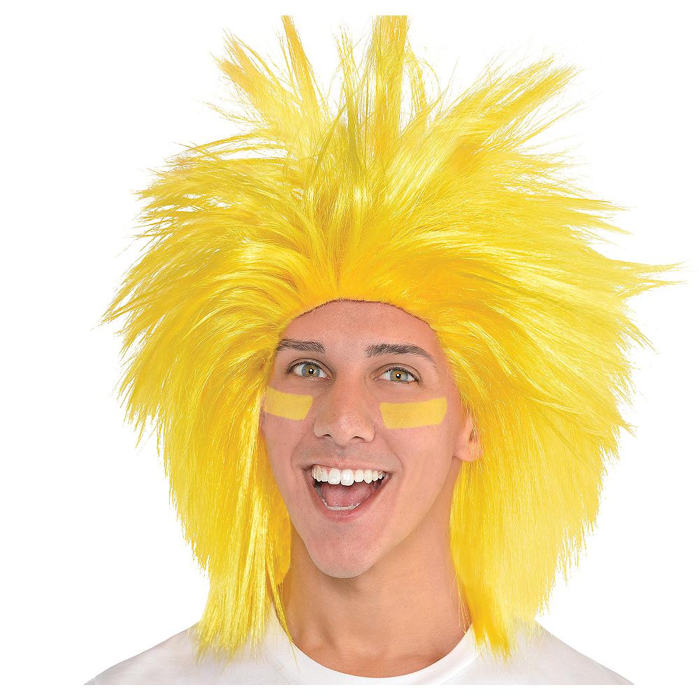 Yellow Crazy Wig Image #1