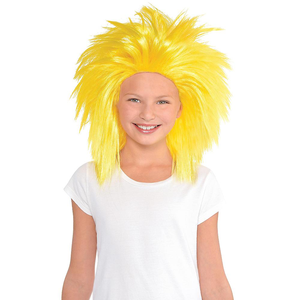 Yellow Crazy Wig Image #2
