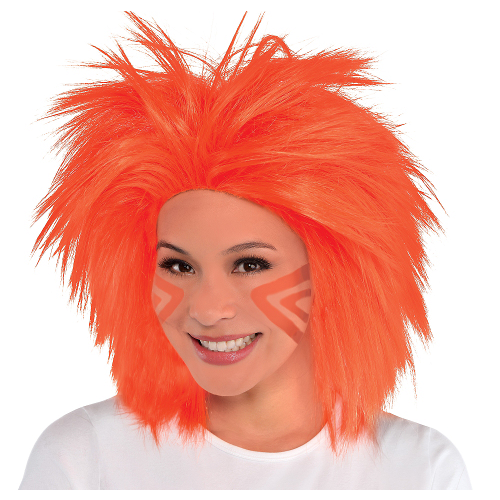 Orange Crazy Wig Image #1