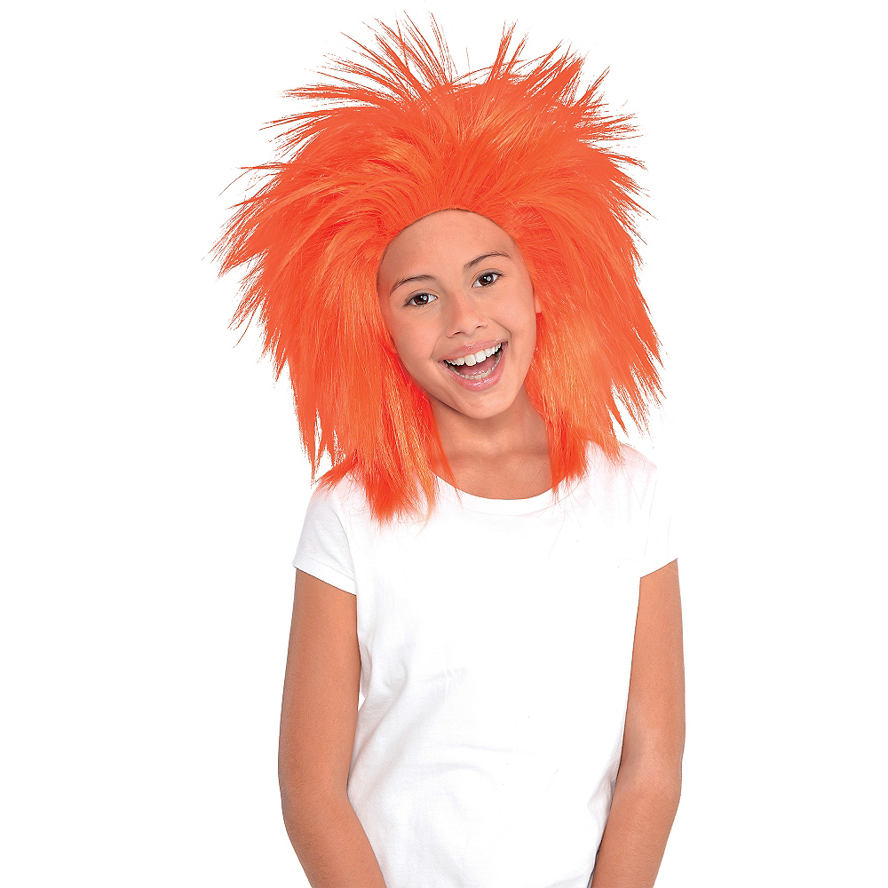 Orange Crazy Wig Image #2