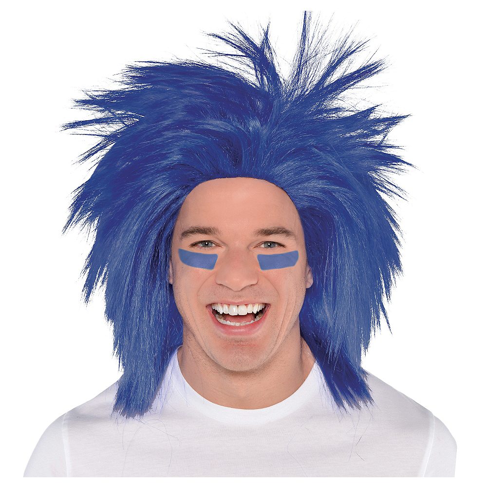 Nav Item for Blue Crazy Wig Image #1