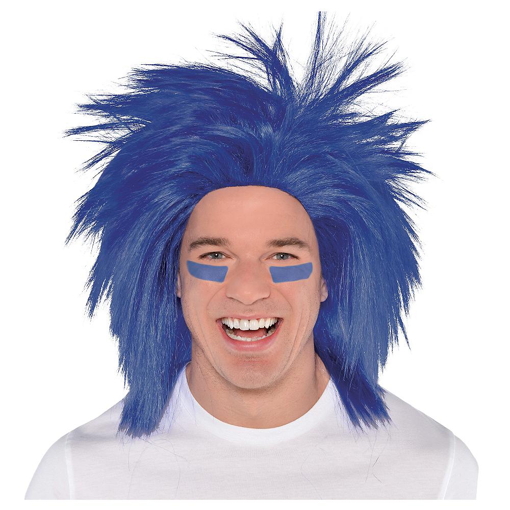 Blue Crazy Wig Image #1