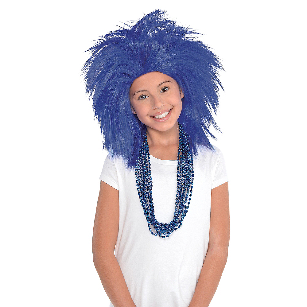 Blue Crazy Wig Image #2