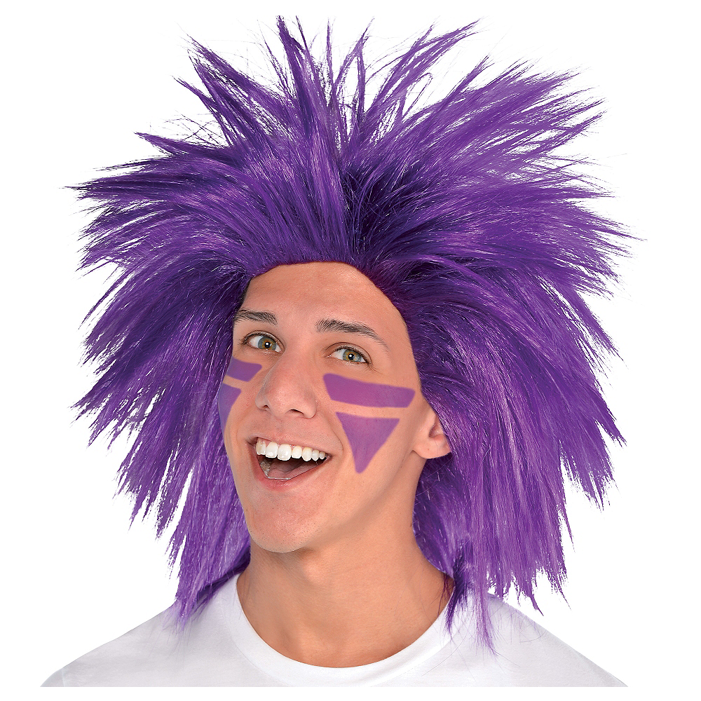 Purple Crazy Wig Image #1