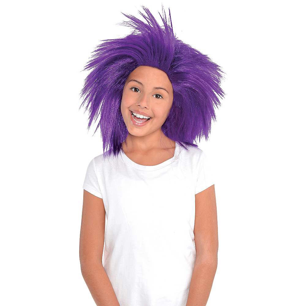 Purple Crazy Wig Image #2