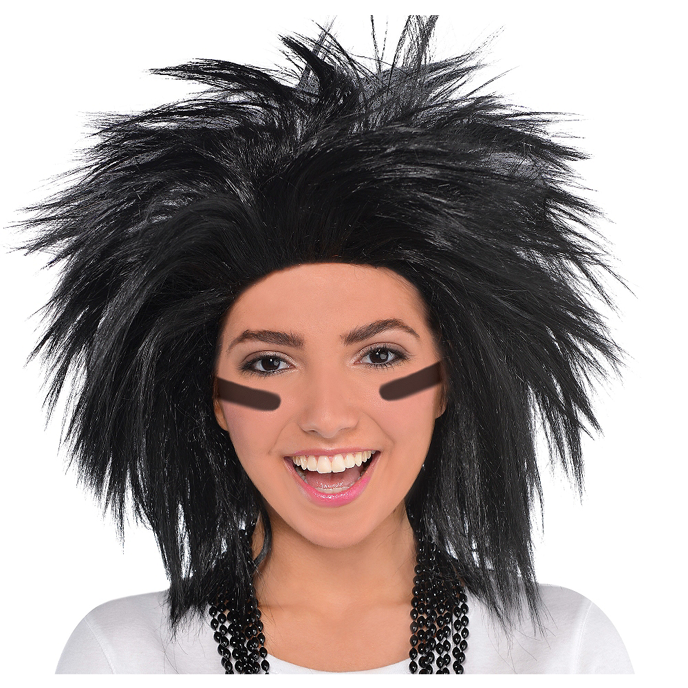 Nav Item for Black Crazy Wig Image #1