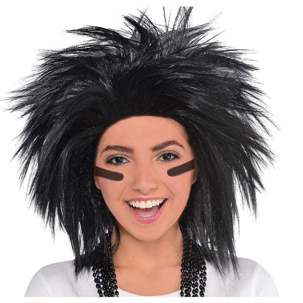 Black Crazy Wig Image #1