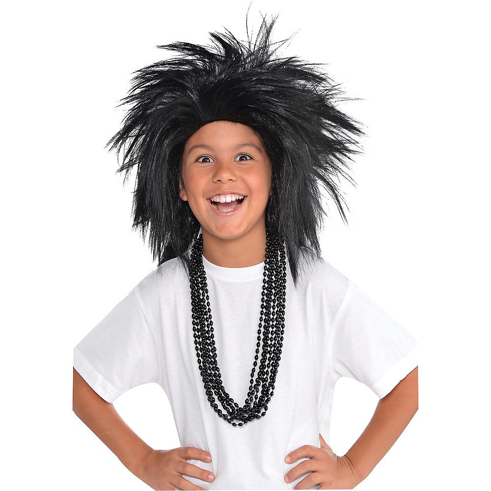 Black Crazy Wig Image #2