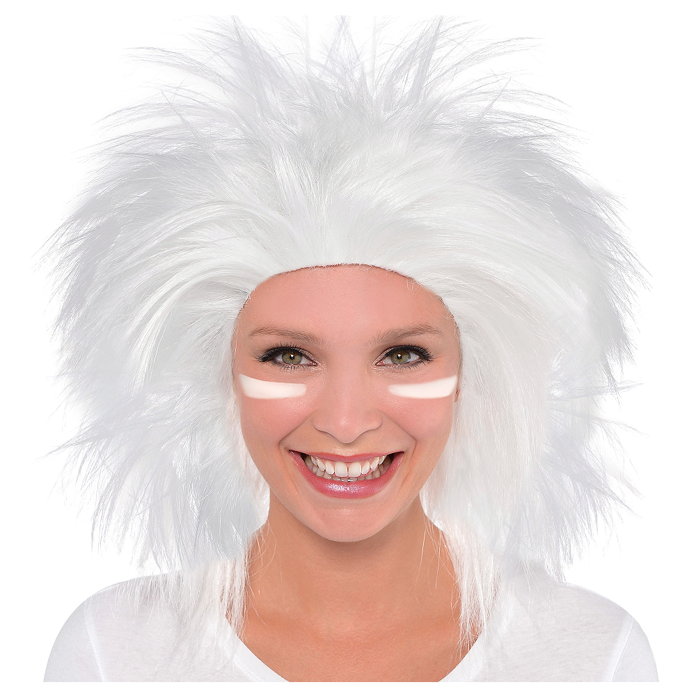 Nav Item for White Crazy Wig Image #1