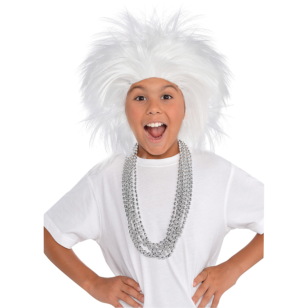 Nav Item for White Crazy Wig Image #2