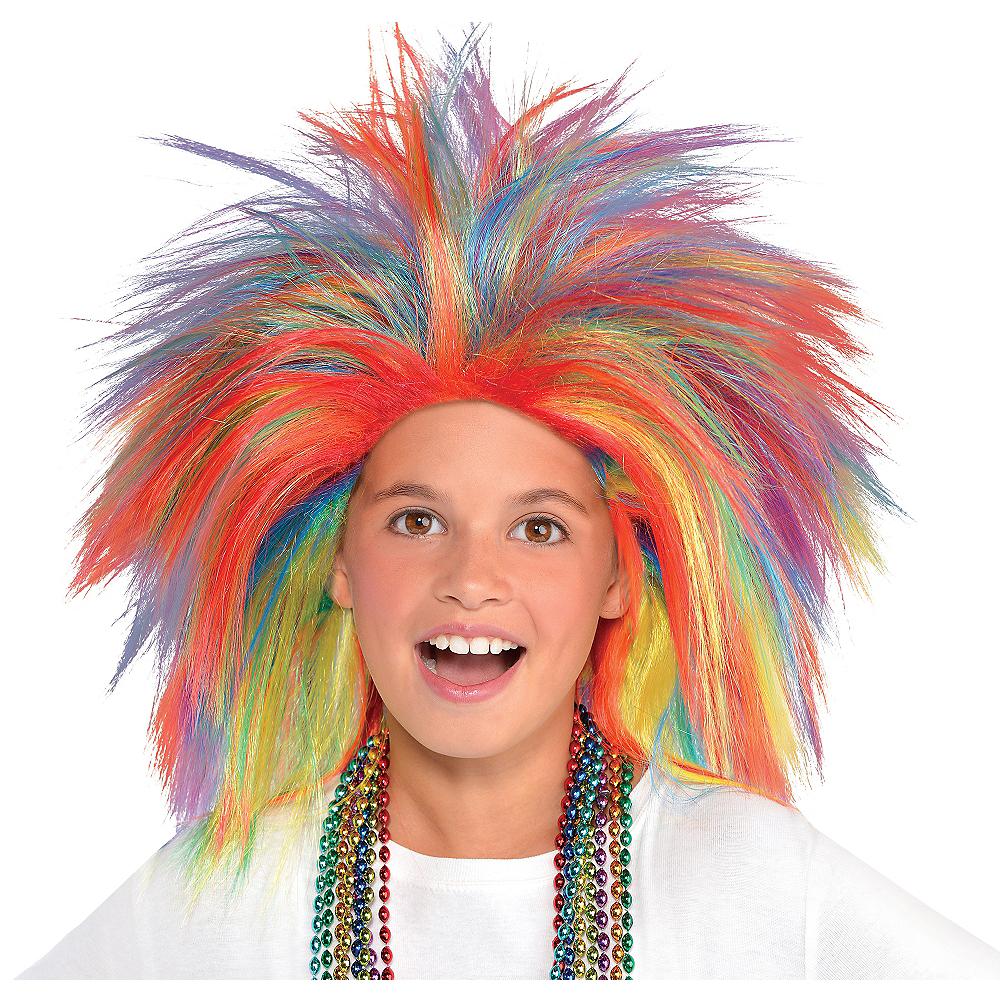 Rainbow Crazy Wig Image #2