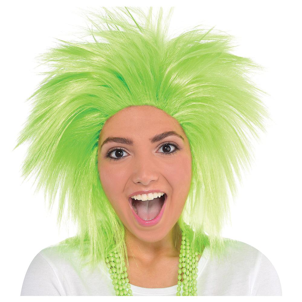 Neon Green Crazy Wig Image #1