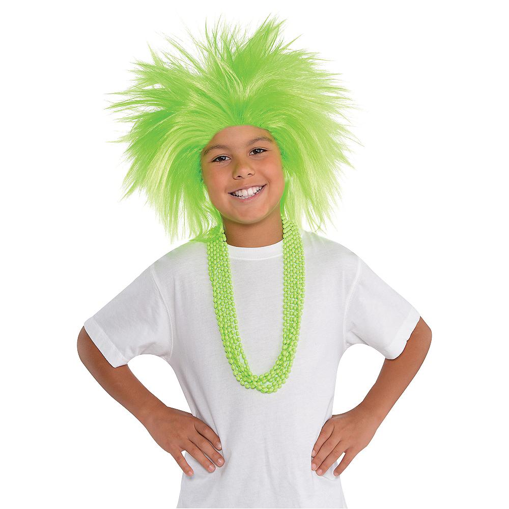 Neon Green Crazy Wig Image #2