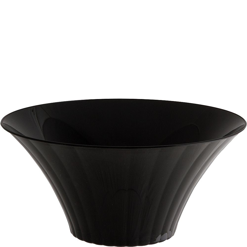 Large Black Plastic Flared Bowl Image #1