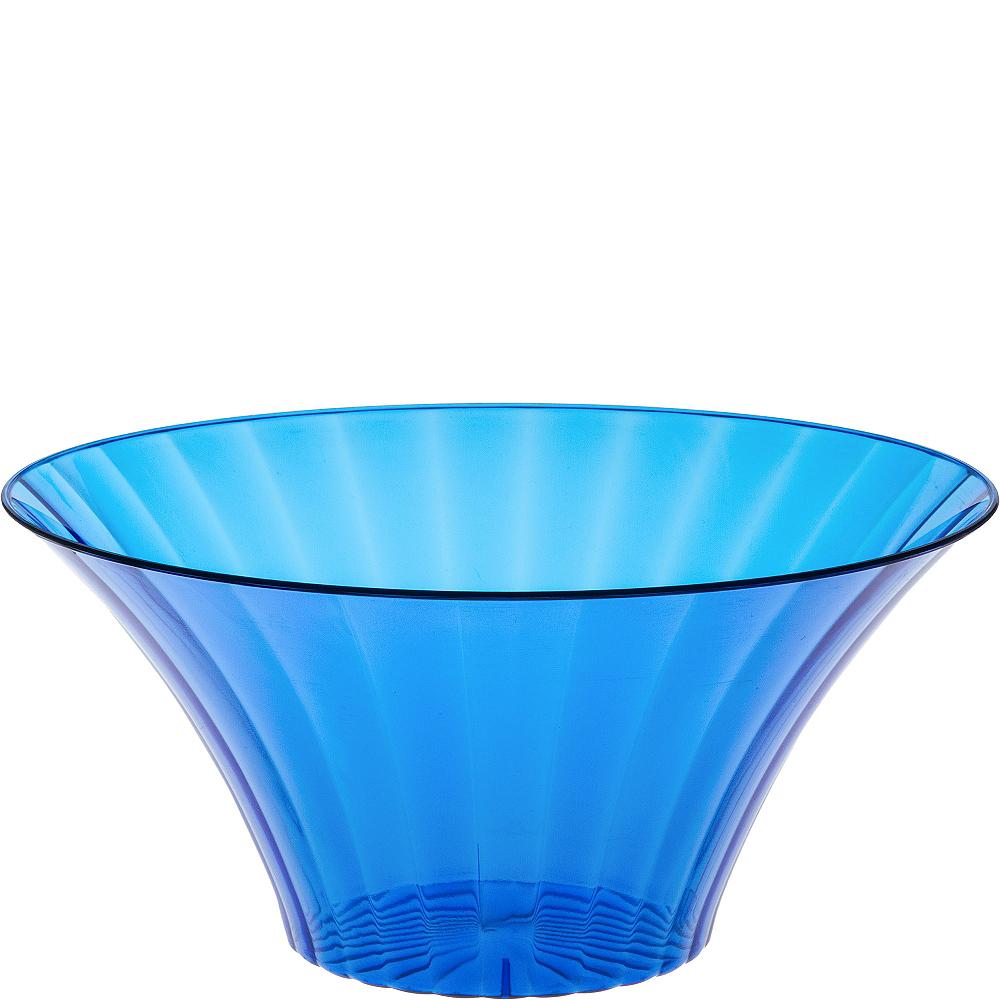 Large Royal Blue Plastic Flared Bowl Image #1