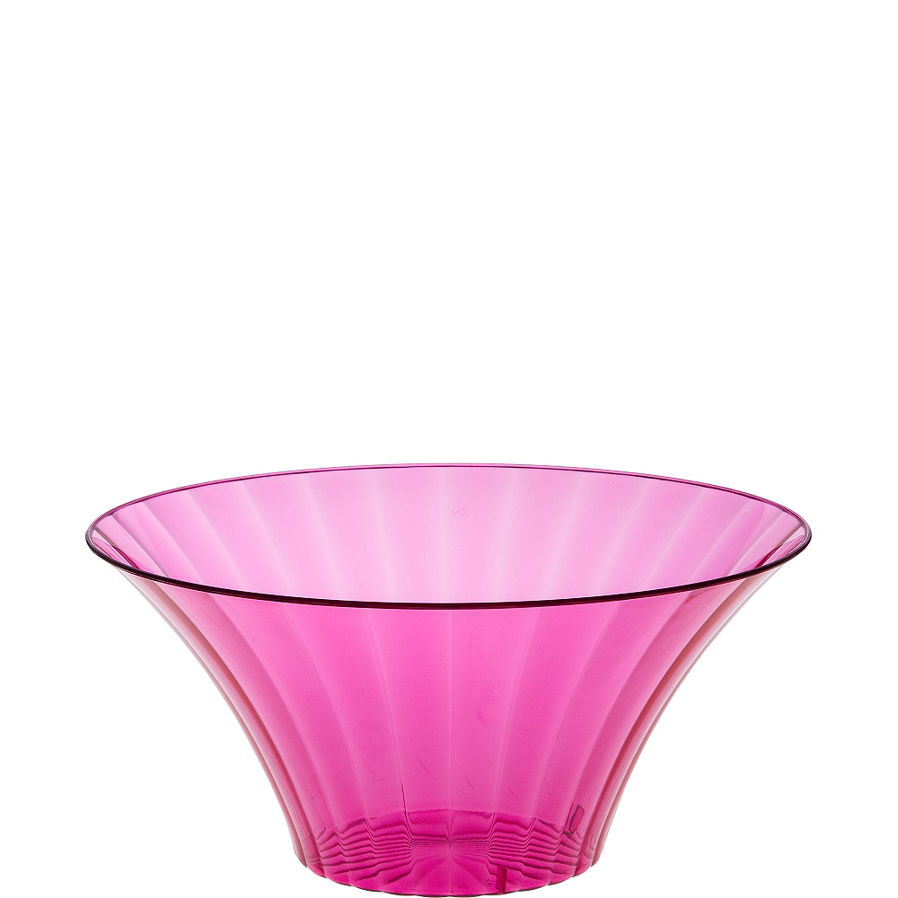Small Bright Pink Plastic Flared Bowl Image #1
