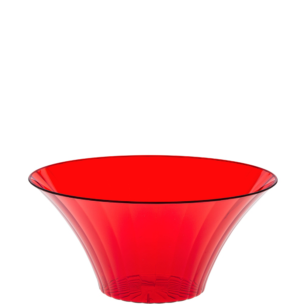 Small Red Plastic Flared Bowl Image #1