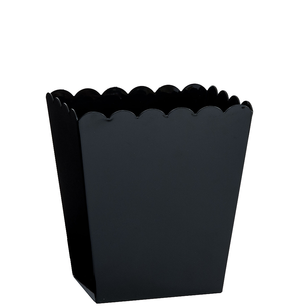 Small Black Plastic Scalloped Container Image #1