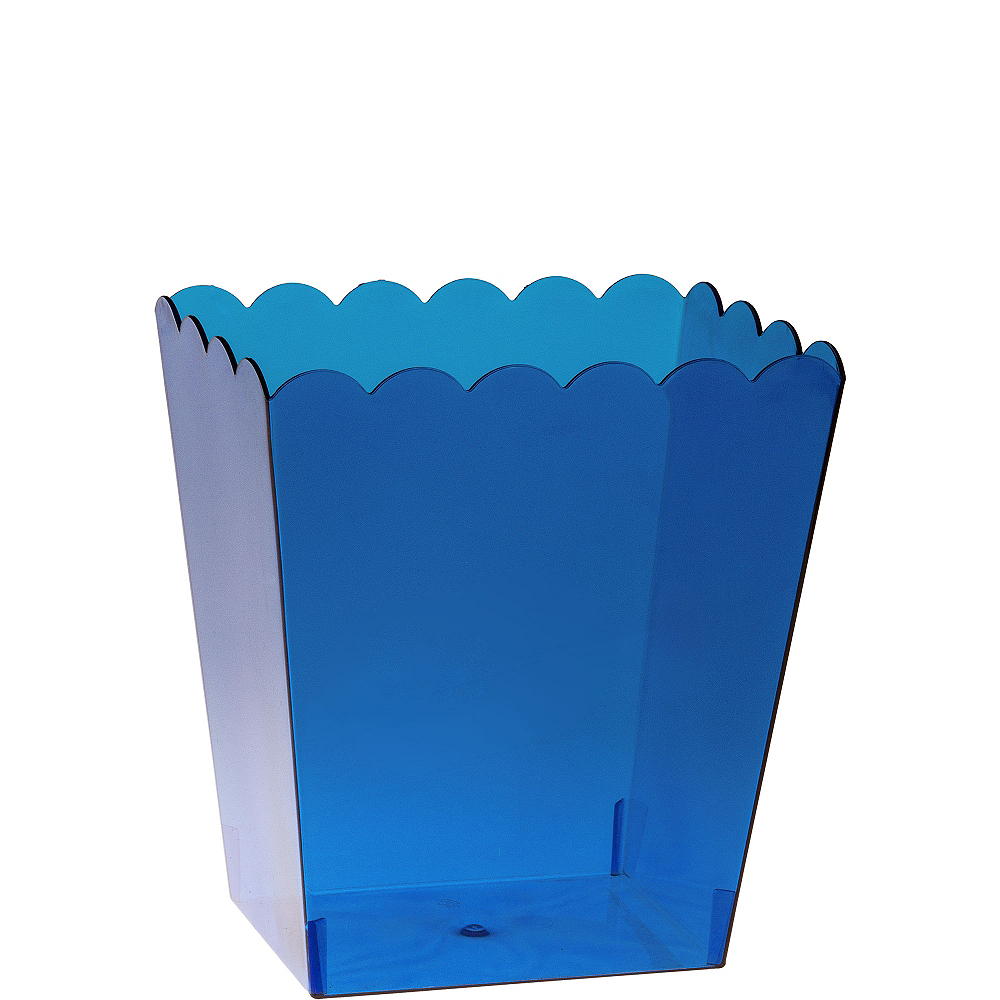 Small Royal Blue Plastic Scalloped Container Image #1