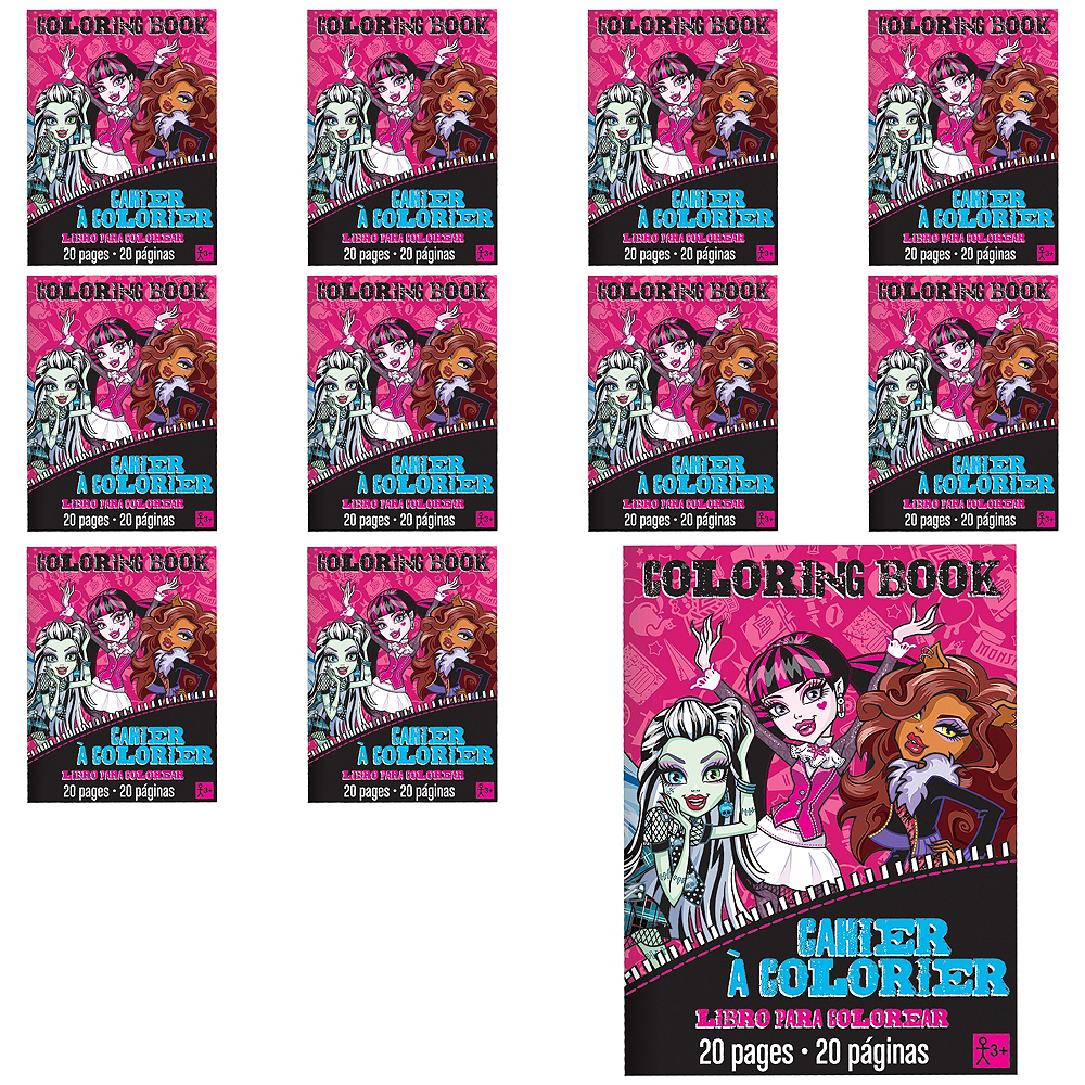 Monster High Coloring Books 48ct | Party City