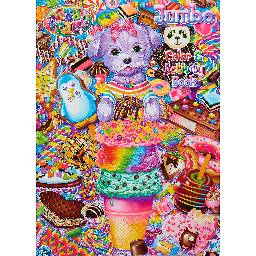 Lisa Frank Jumbo Coloring Activity Book Image 1