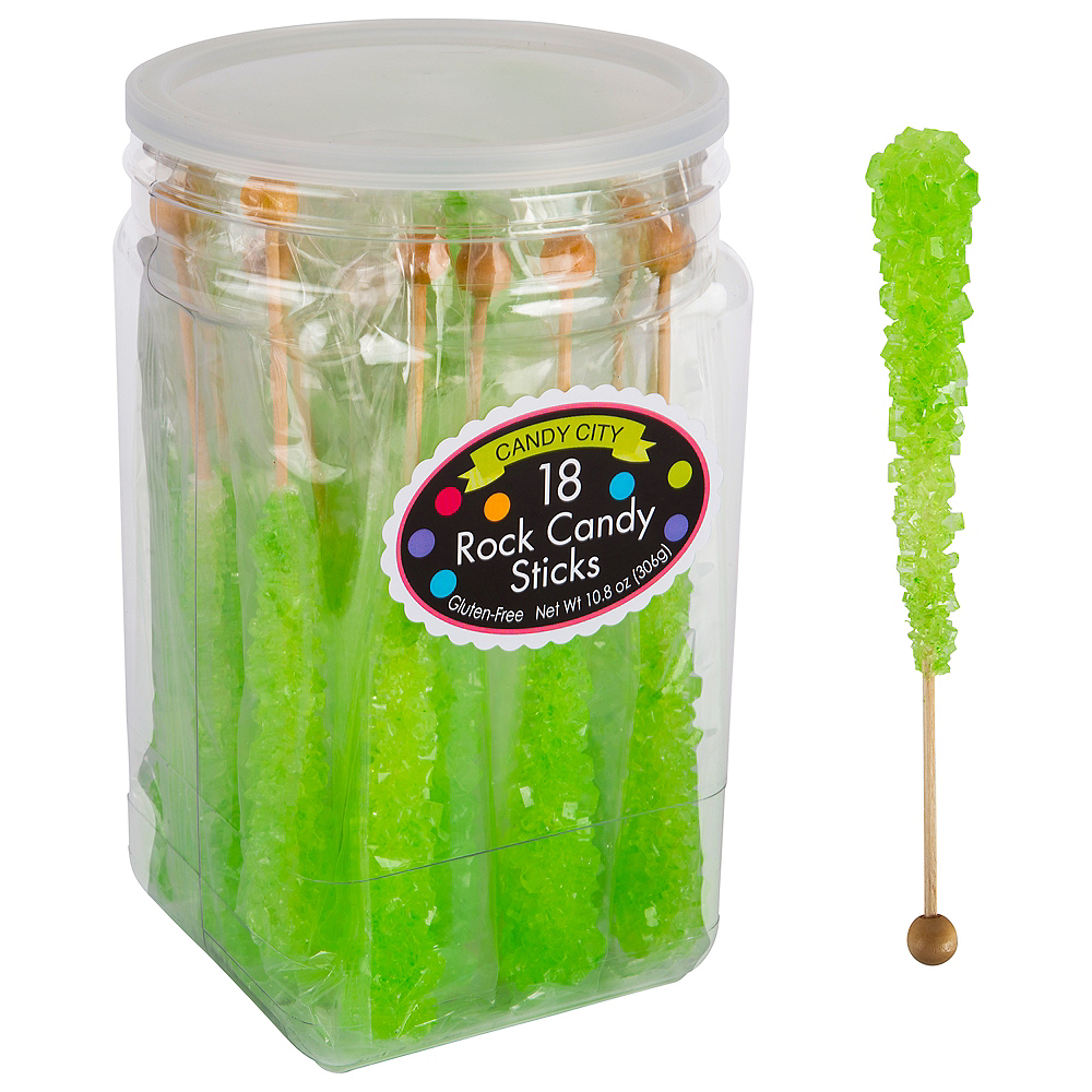 Green Rock Candy Sticks, 18ct Image #1