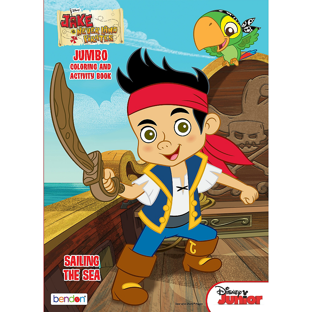 Jake and the Neverland Pirates Coloring & Activity Book | Party City