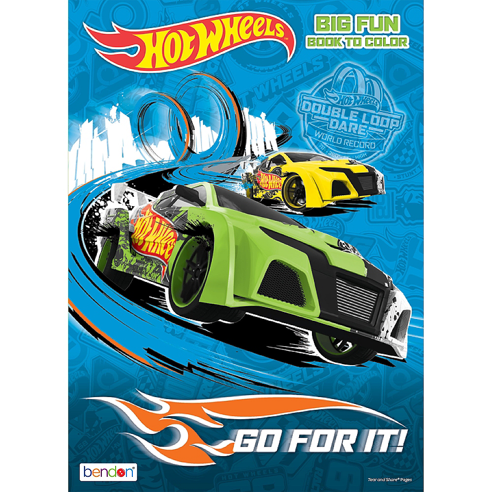 Hot Wheels Coloring & Activity Book | Party City