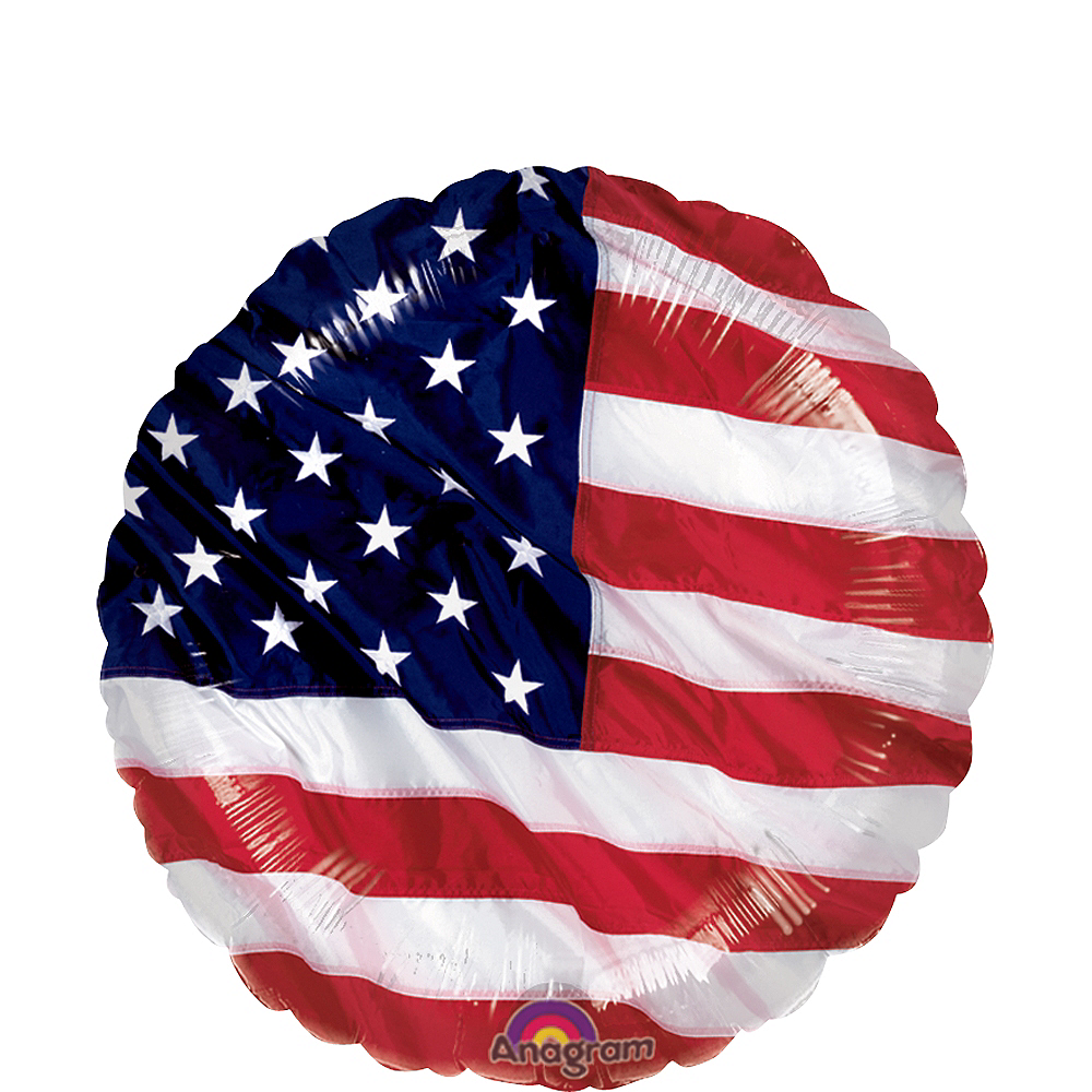 Patriotic Balloon, 17in Image #1